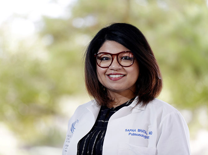 Sapna Bhatia, MD a Pulmonologist at Comprehensive Cancer Centers of Nevada